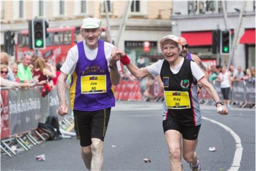 godupdates 80-year-old couple celebrates 57th wedding anniversary running marathon 5