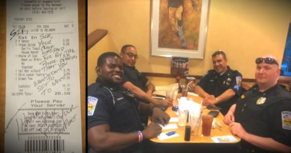 Couple Refused To Sit By Cops, So The Officers Pay Their Tab