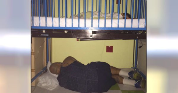 Viral Photo Of Hardworking Dad Asleep After He Refuses To Leave Sick Son's Side