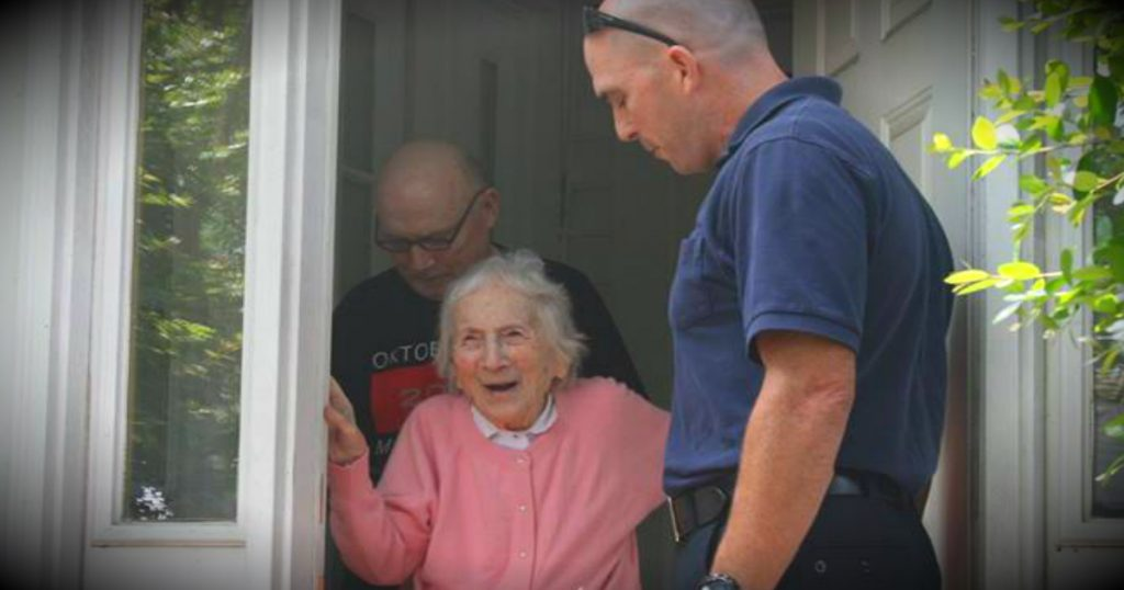 godupdates department surprises firefighter's widow on her 100th birthday fb