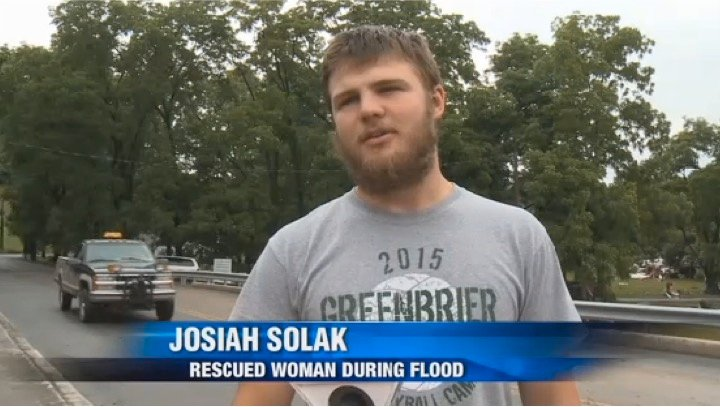 godupdates west virginia flood wrestler saves woman 6