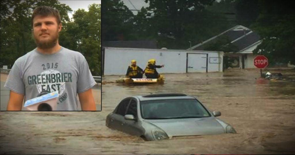 godupdates west virginia flood wrestler saves woman fb