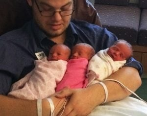 godupdates 19-year-old couple welcomes rare identical triplets 5