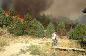 godupdates mysterious figure photo cabin spared in idaho fire 2