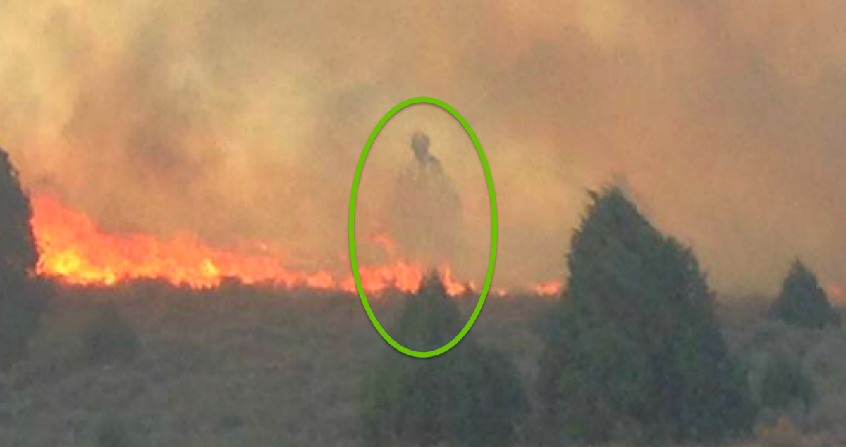 godupdates mysterious figure photo cabin spared in idaho fire fb
