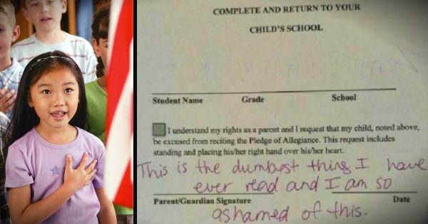Uncle Is Furious Over School's 'Pledge Of Allegiance Request' Form