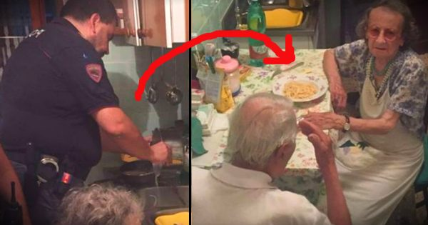 Police Called To An Apartment Drop Everything To Spend A Meal With A Lonely Elderly Couple