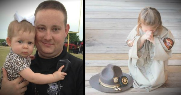 3-Year-Old Daughter Of Fallen Officer Prays For Dad