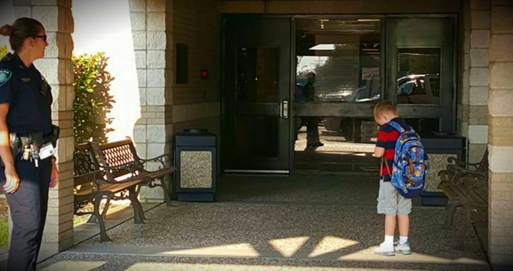 godupdates tardy kindergartner stops for pledge of allegiance and prayer fb