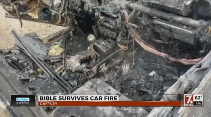 godupdates bible survives intense car fire gaffney sc 1