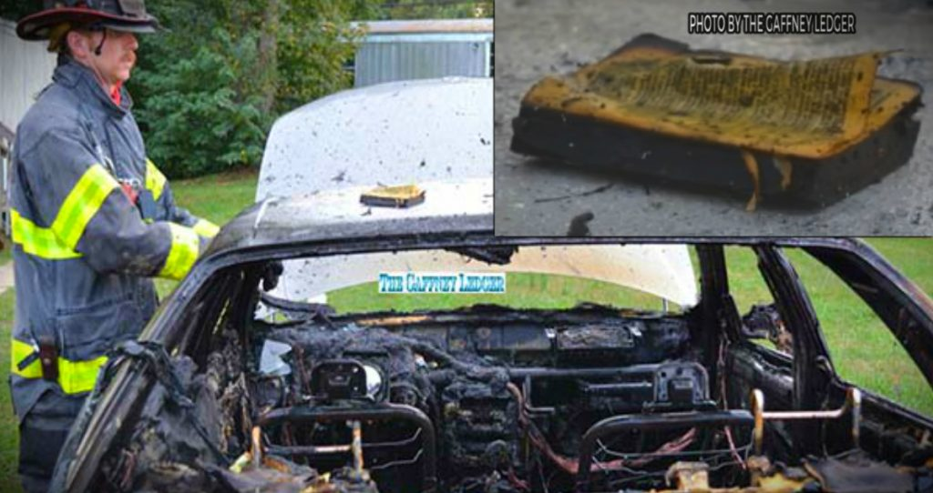 godupdates bible survives intense car fire gaffney sc fb