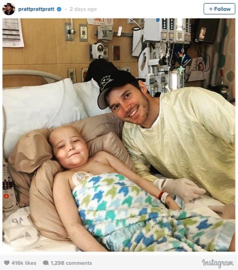 godupdates chris pratt visited seattle children's hospital 1