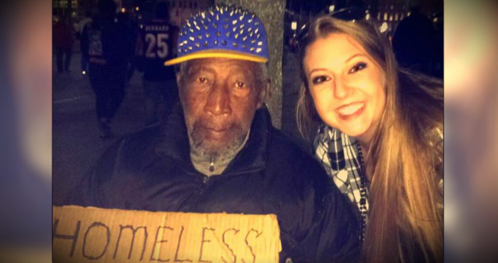 godupdates girl has homeless man watch her purse fb
