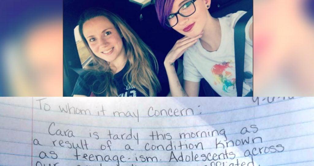 godupdates mom writes hilarious tardy note for disrespectful teen fb