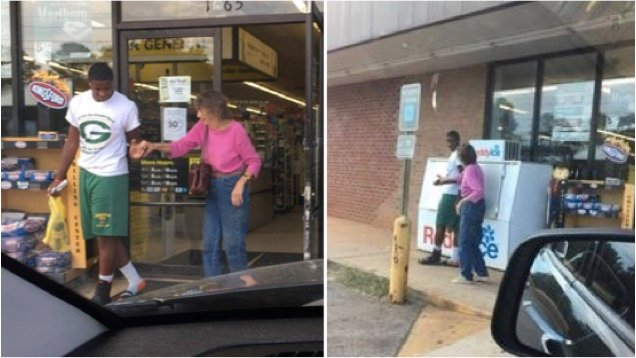 godupdates teen helped elderly woman at dollar store 1