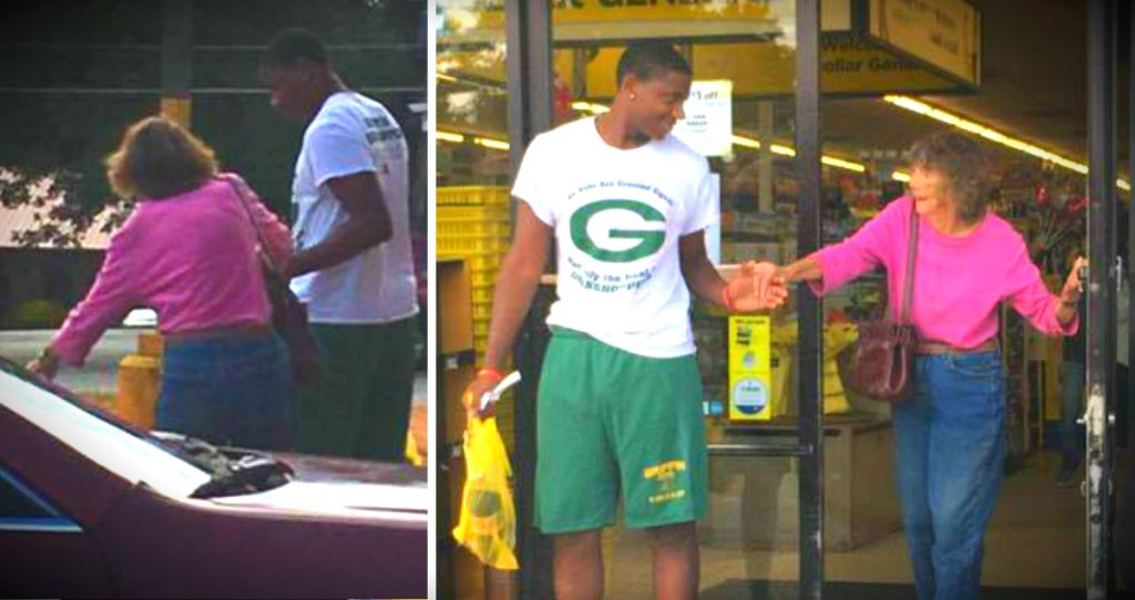 godupdates teen helped elderly woman at dollar store fb