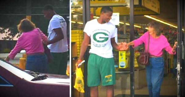 Teen Jumps In To Help An Elderly Woman Struggling At The Dollar Store