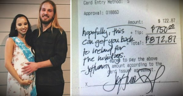 Big Tip Helps Deserving Waiter Get Home For Christmas