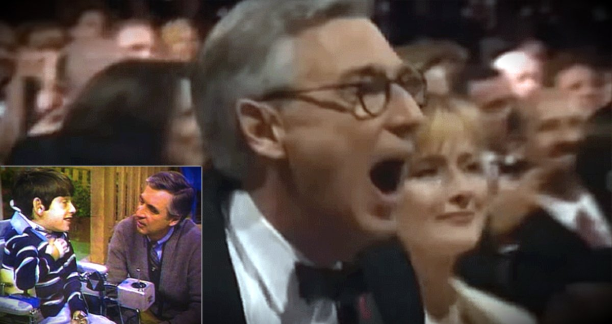 godupdates old friend surprised mister rogers on stage tv hall of fame fb