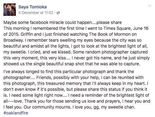 godupdates facebook plea reunited oakland fire victim's girlfriend 1