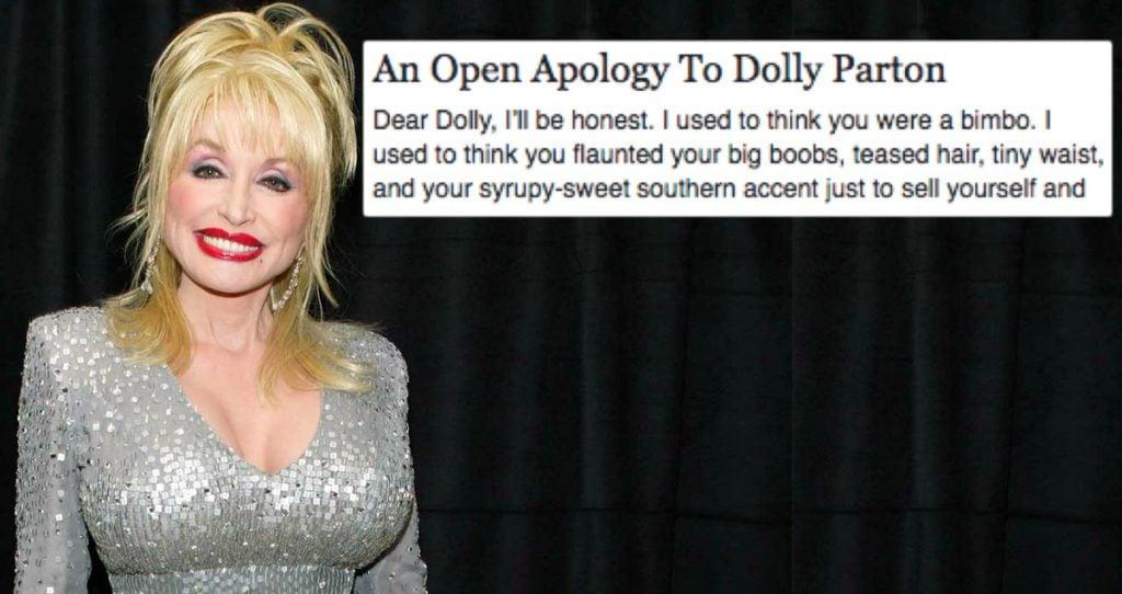 godupdates woman writes open letter apologizing to Dolly Parton fb