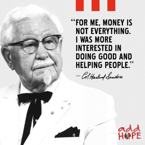 colonel sanders accepted jesus testimony 3
