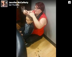 godupdates hairdresser sat on the floor boy with autism haircut 1