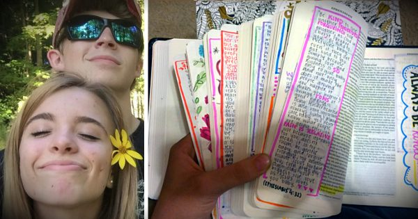 Teen Spent 3 Months Personalizing Bible As Gift To Her Boyfriend