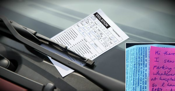 Tired Mom Leaving Hospital Finds Parking Ticket & Note From Stranger