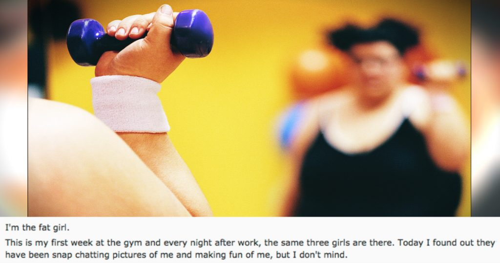 godupdates young woman was fat-shamed while exercising at gym fb