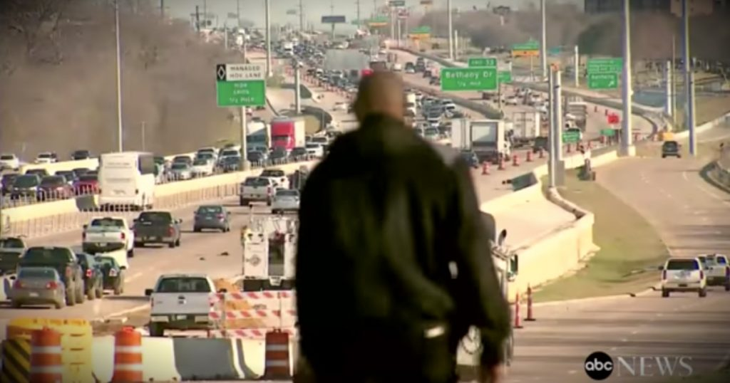 godupdates Texas man walks 15 miles to work each day fb