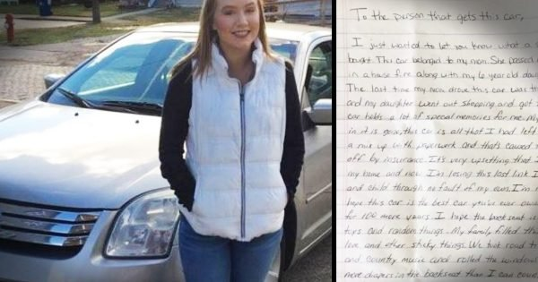 Dad Finds A Strange Note In His New Car And It's Message Is Hauntingly Beautiful