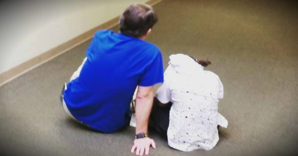 Viral Photo Of Teacher Sitting On The Floor With A Troubled Student