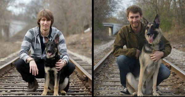 15 Times Dogs Recreated Photos from When They Were Puppies