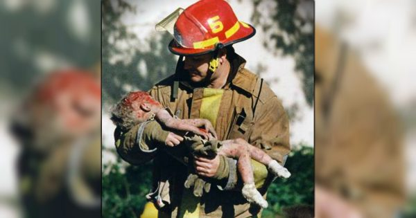 Firefighter Cradling Bloody Baby In Iconic Photo Talks About That Day