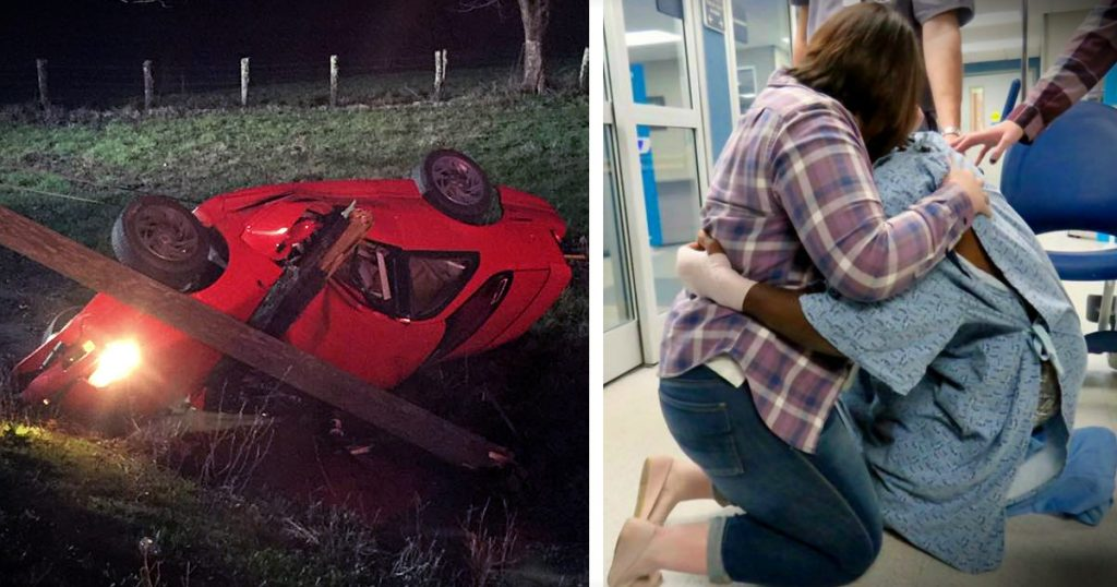 godupdates man survives crash and pops emergency room proposal fb