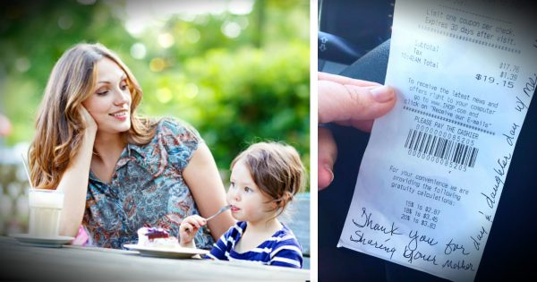 Mom Gets A Note From Stranger Watching Her And Her Daughter Eat