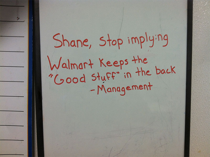 Shane the walmart deli-guy _ god updates