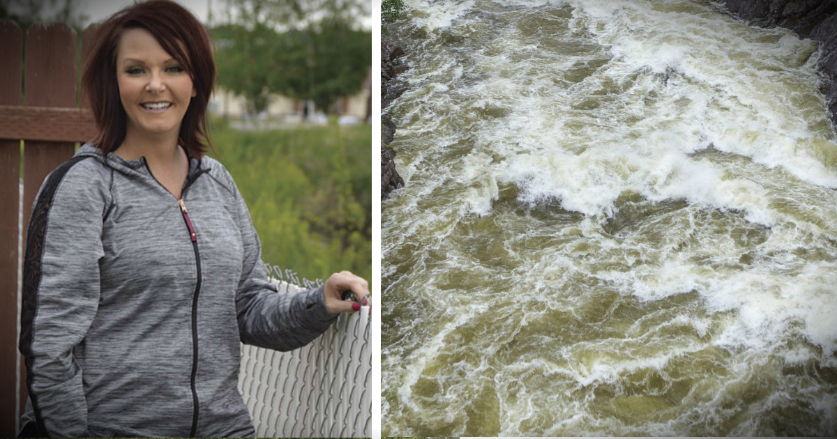 godupdates heroic woman rescues toddler trapped face down in stroller in raging canal waters fb