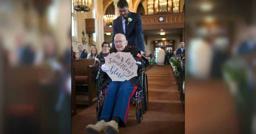 godupdates bride's 92-year-old veteran uncle as something blue 1
