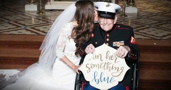 92-Year-Old Veteran Is Bride's 'Something Blue' At Wedding
