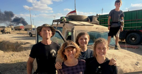 Veteran And Wife Homeschool Their 3 Kids In War Zone While Battling ISIS
