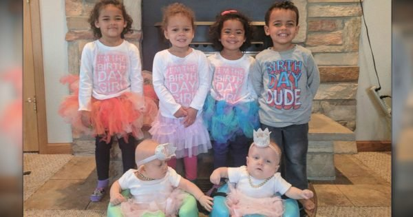 Couple Has 3 Sets Of Twins, All With The Same Birthday