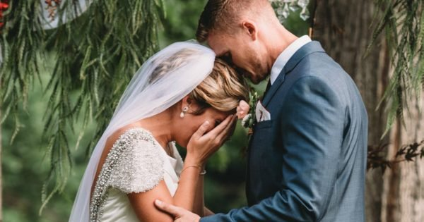 Bride Breaks Down Hearing Late Grandpa's Voice During Wedding