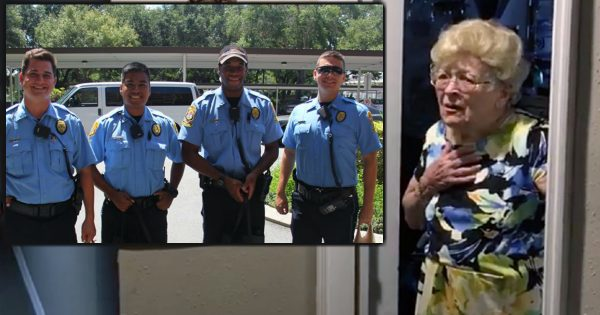 Police Pay A Visit To A 94-Year-Old Grandma, And Her Reaction Is Priceless