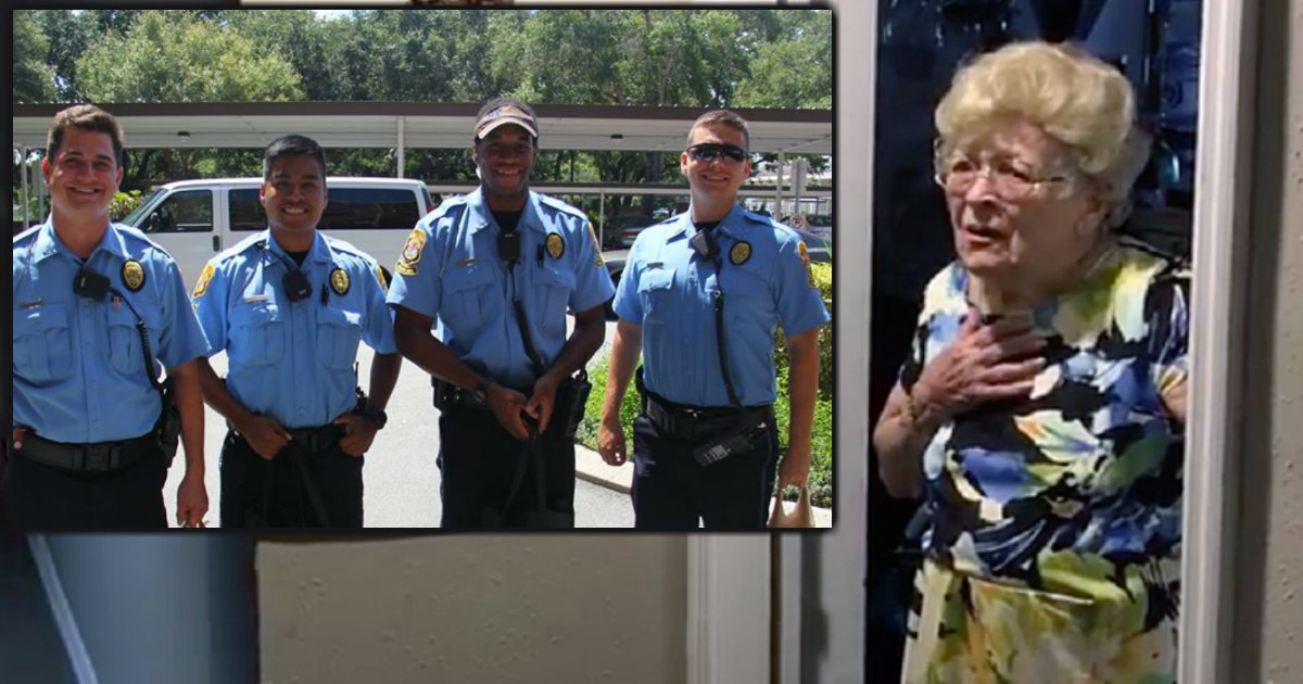godupdaets clearwater police bring 94-year-old grandma hurricane supplies fb