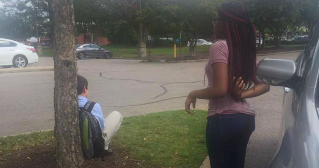 godupdates 14-year-old girls random act of kindness for stranded boy in parking lot fb