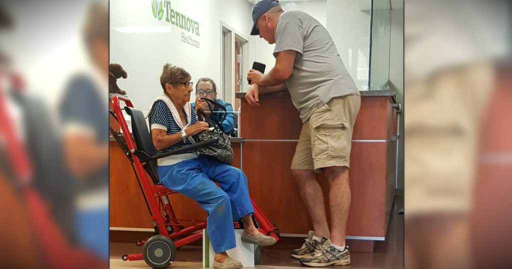 godupdates elderly lady was stuck at the hospital til stranger steps in fb