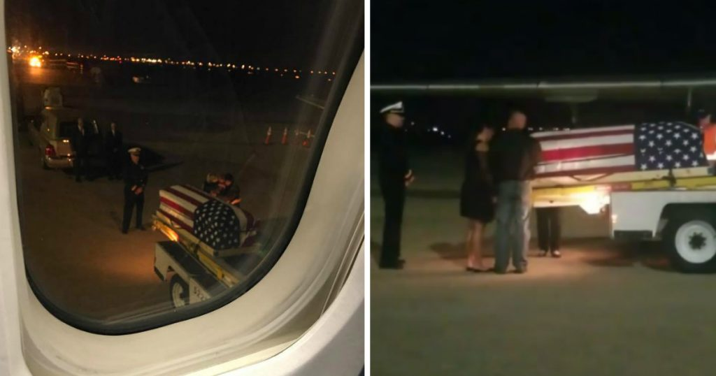 godupdates flight returning a fallen soldier to her family in tears fb