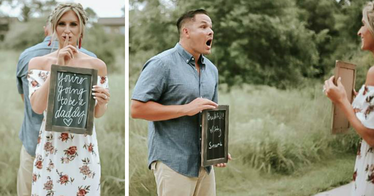 godupdates husband has best reaction to wife's surprise pregnancy annoucement fb